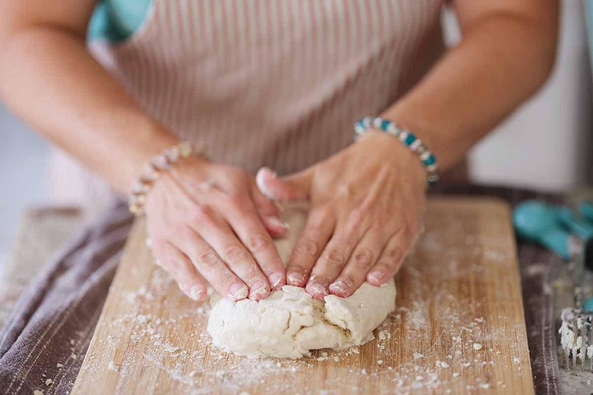 Gluten Free Buttermilk Biscuits Recipe turn the dough into a ball