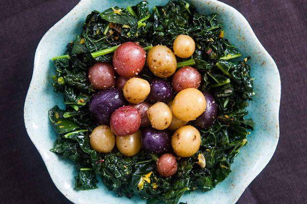 Dinosaur Kale Baby Potatoes