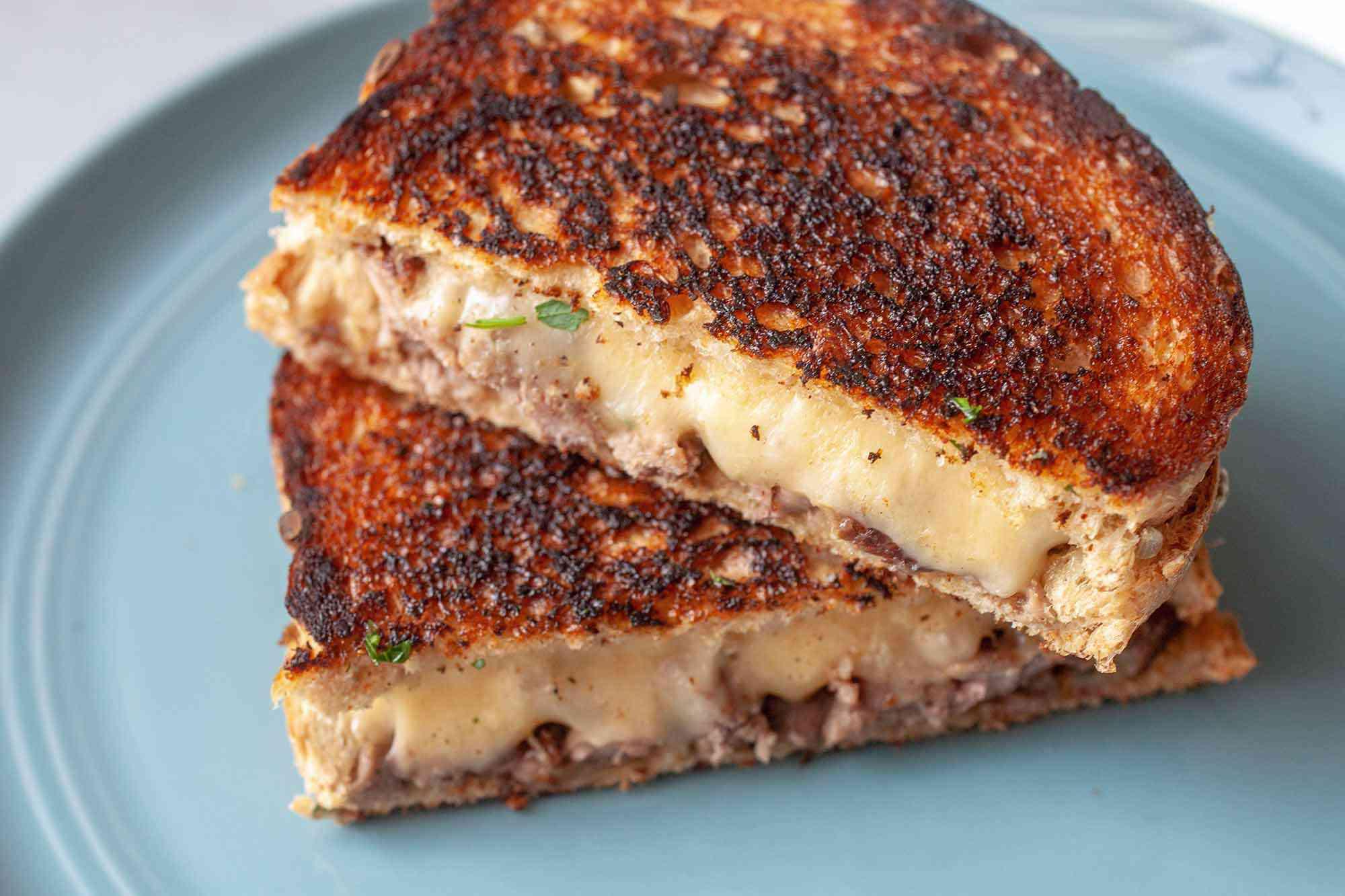 Beef Cube Recipe Dad Add steak bite grilled cheese