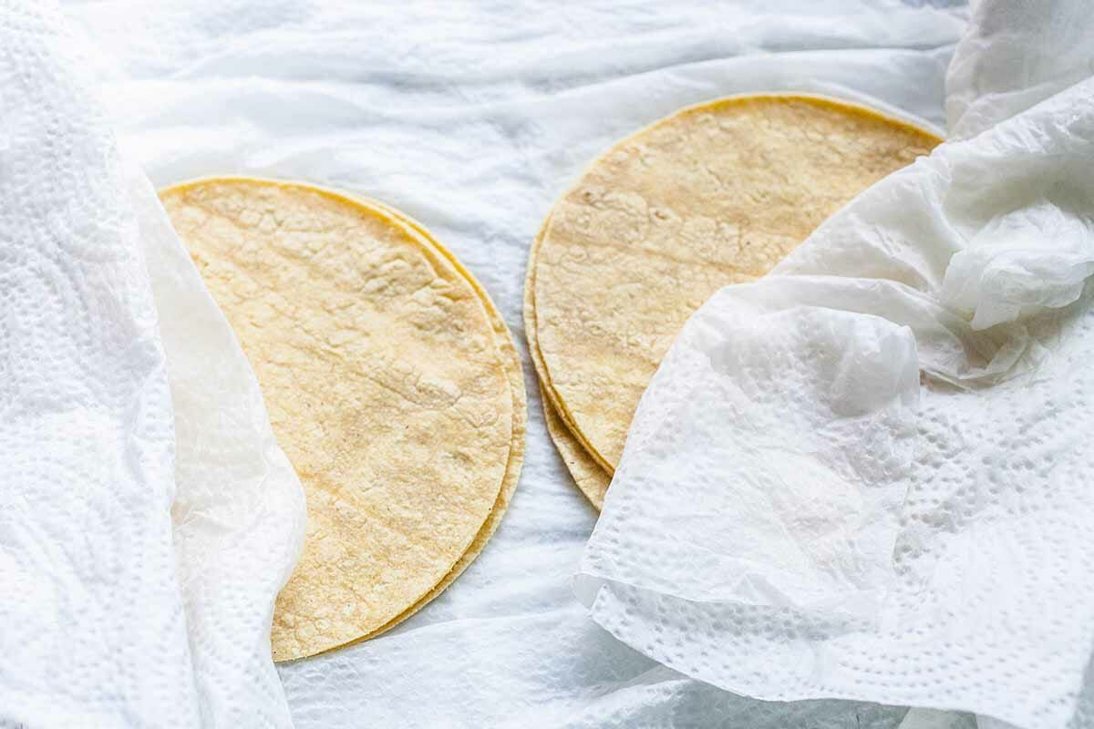 How to Make Taquitos warm the tortillas