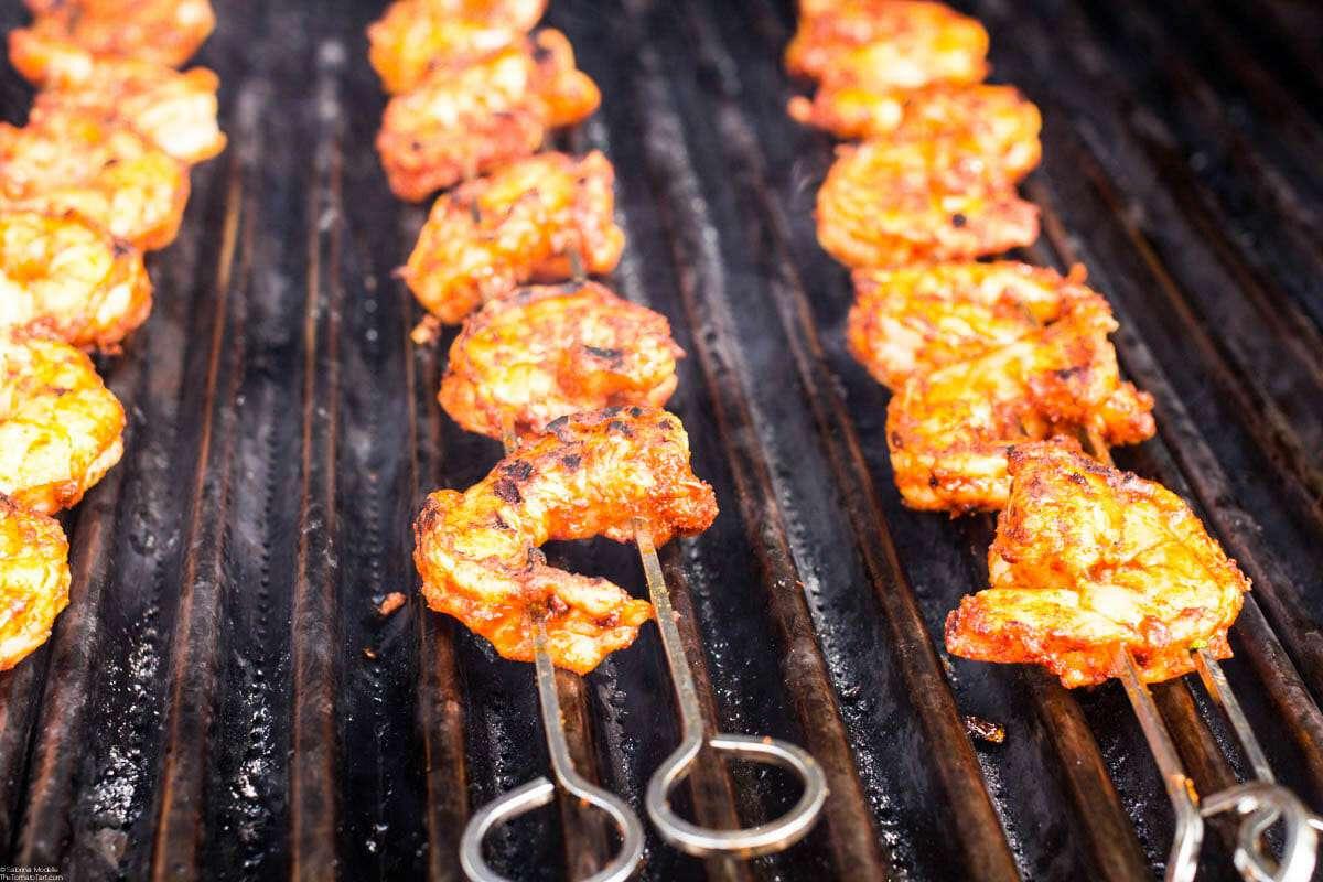 Shrimp Tacos in Bowls grill the shrimp