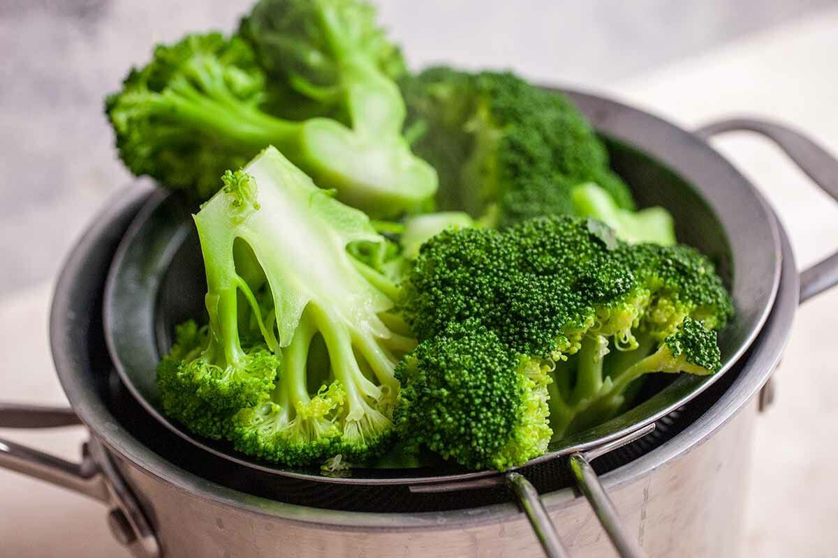 Broccoli Cheddar Soup Blanch the Broccoli