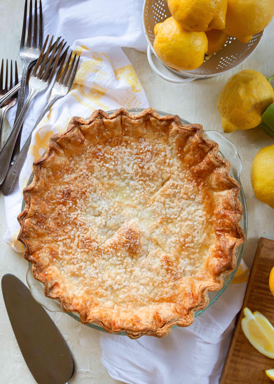 A whole Lemon Shaker Pie