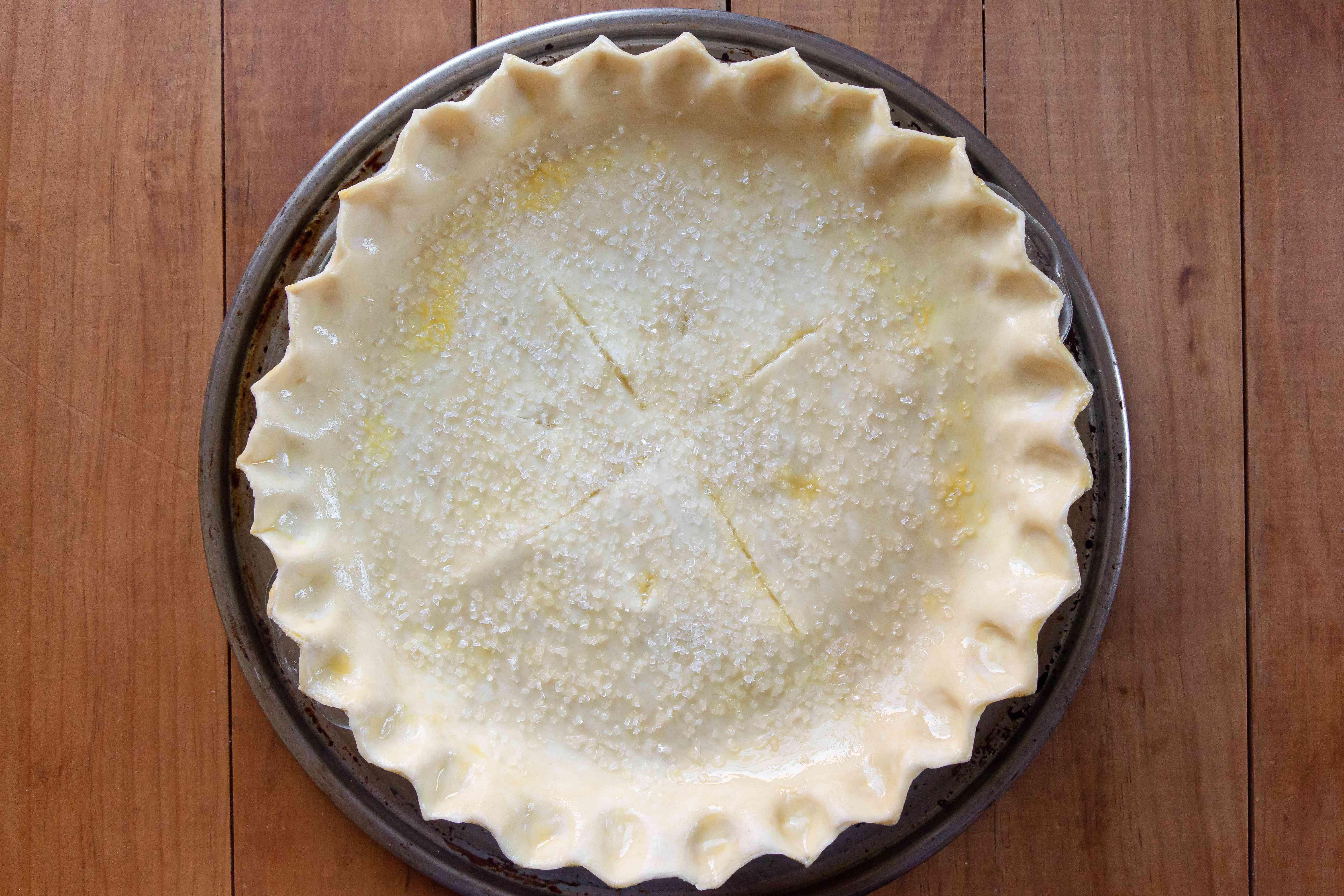Ohio Lemon Pie ready for the oven.