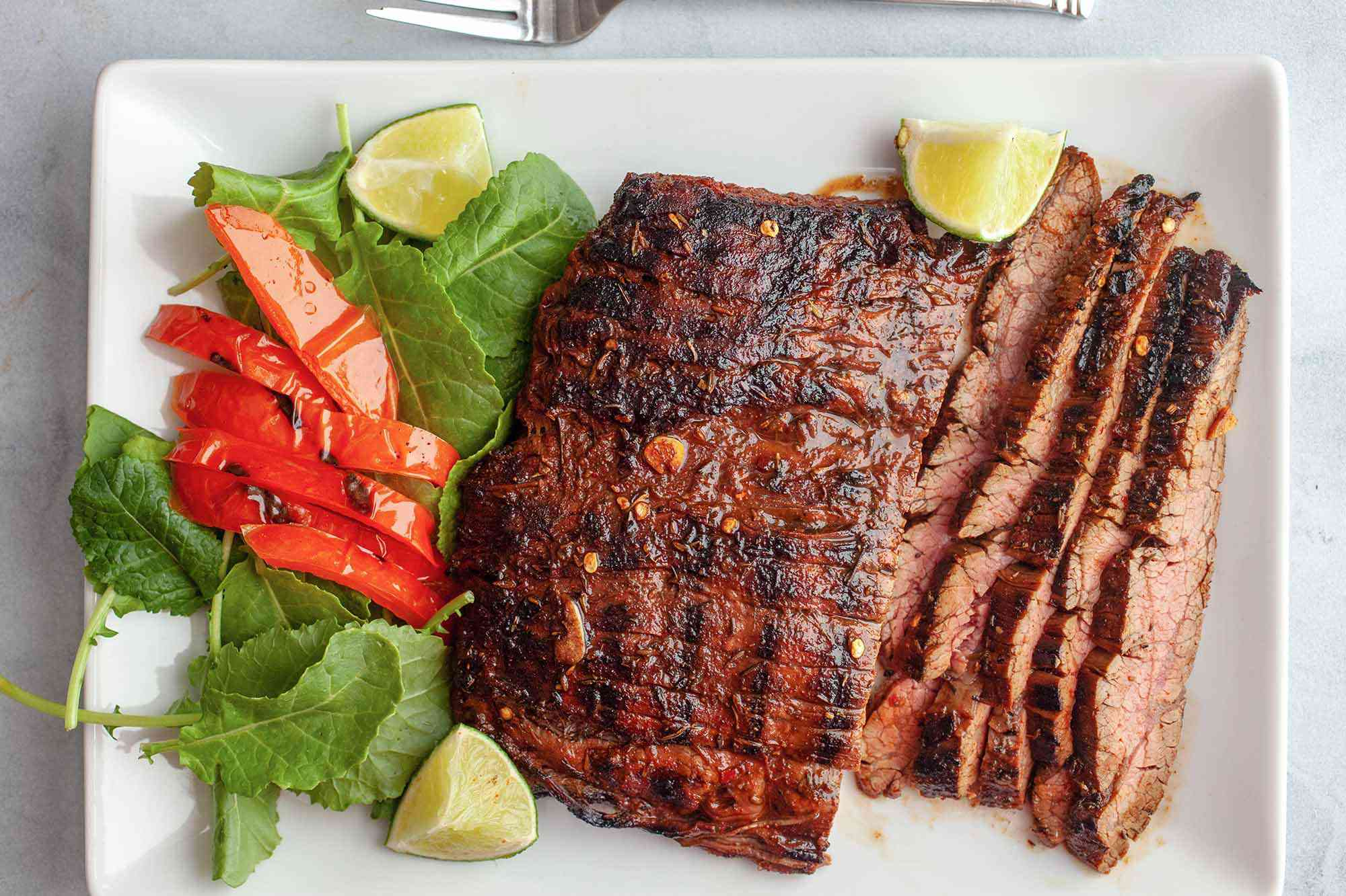 Grilled Flank Steak Marinade with Lime