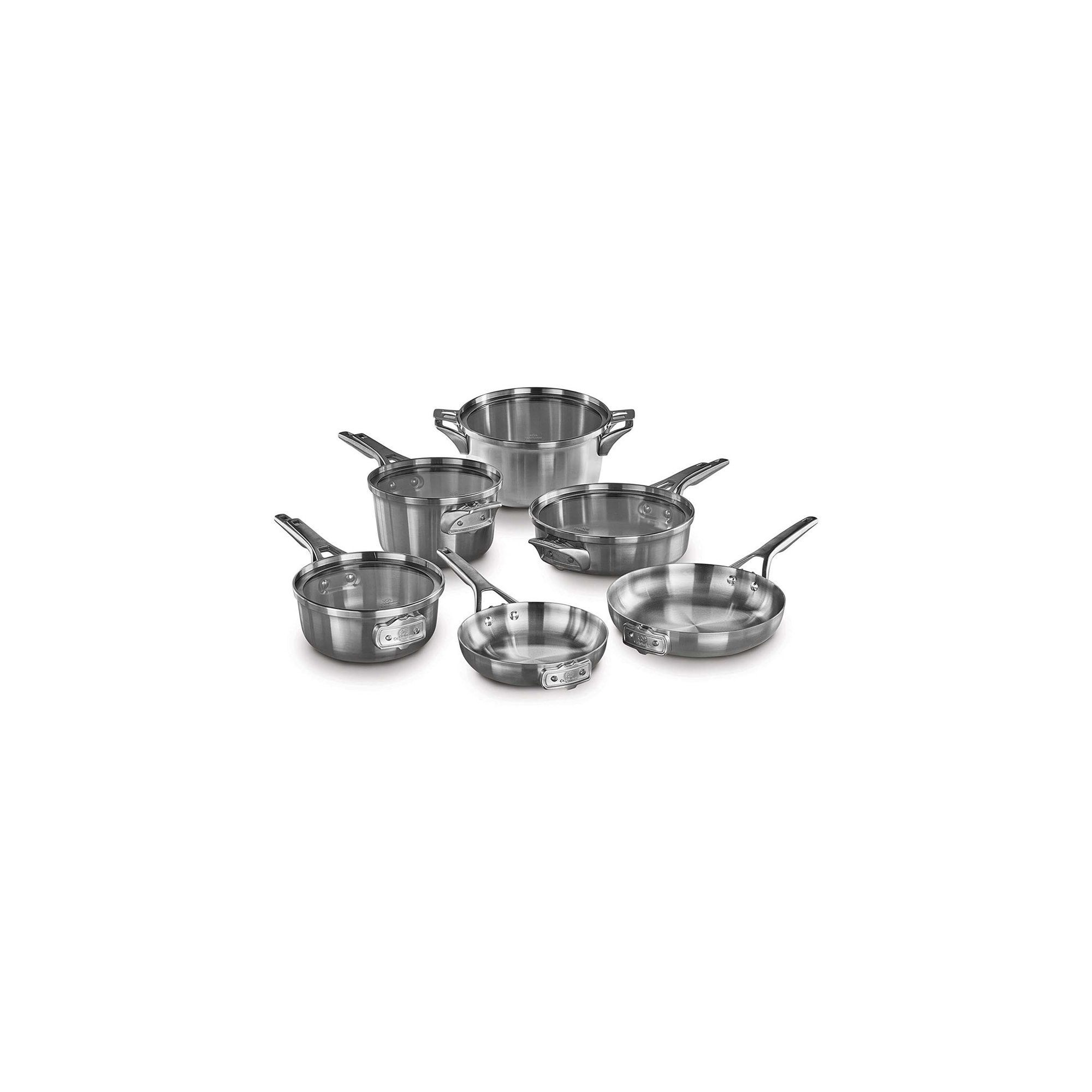 Calphalon Premier Space-Saving Stainless Steel Supper Club Set