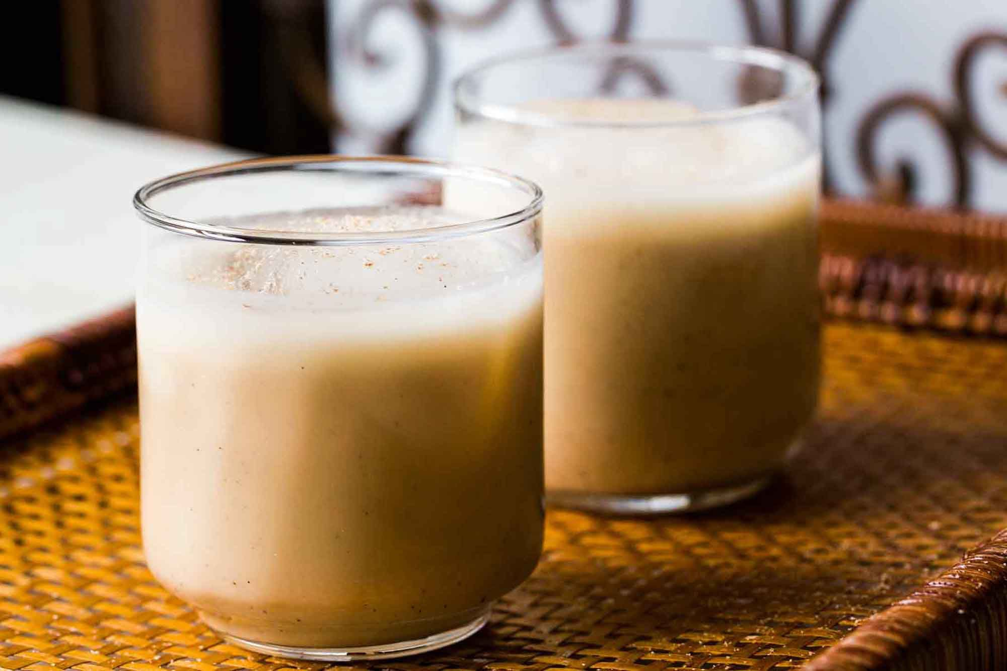 Two Glasses of Coquito