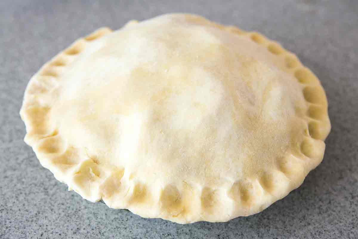 crimp edges of pie