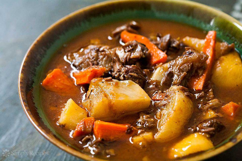 Lamb Shank Stew Root Vegetables