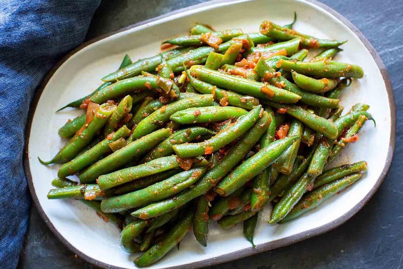 Green Beans with Salsa