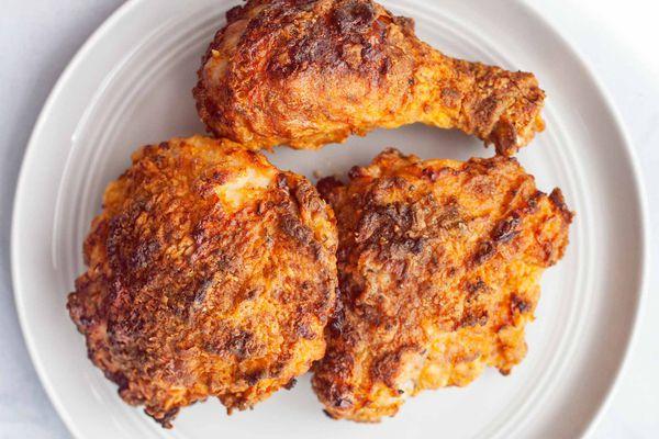 Air Fryer Fried Chicken on a platter