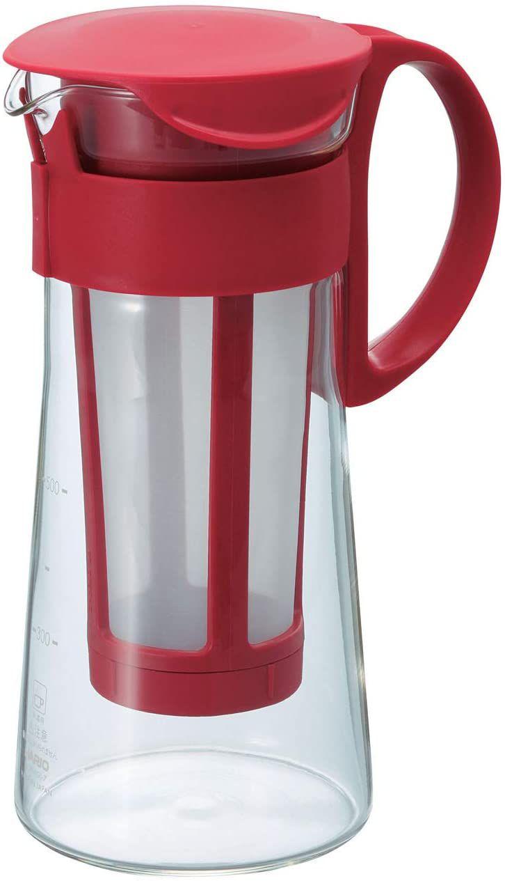 Hario Mizudashi Cold Brew Iced Coffee Pot/Maker (600ml, Red)