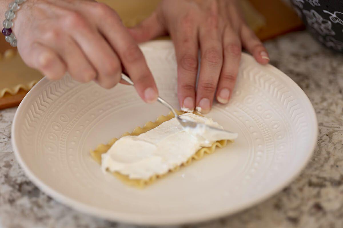 Summer lasagna recipe add the ricotta