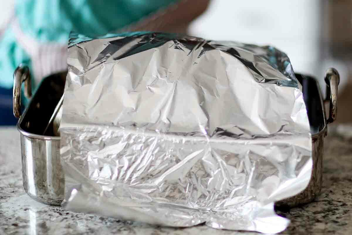 Dry-brined turkey recipe tent the turkey with foil