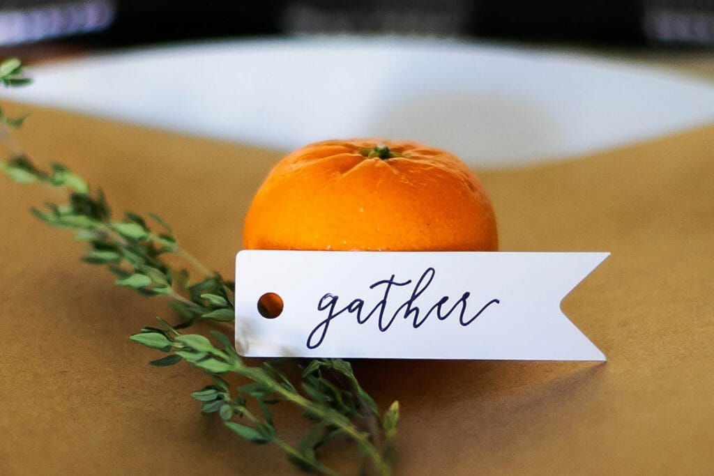 gather place cards for thanksgiving tablescape